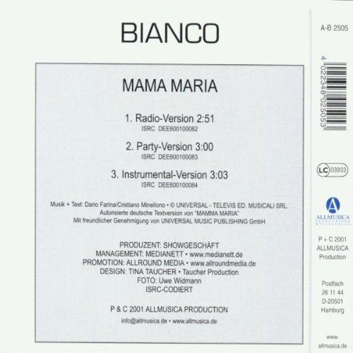 Bild 2: Bianco, Mama Maria (2001)