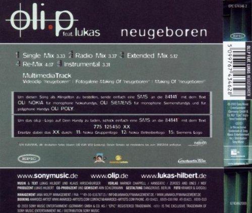 Bild 2: Oli. P, Neugeboren (2003, feat. Lukas Hilbert)