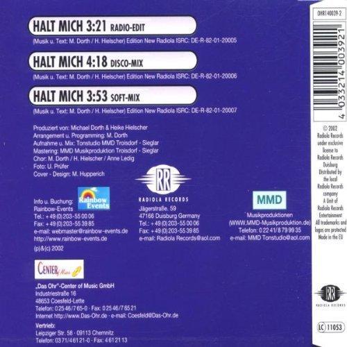 Bild 2: Marc D., Halt mich (3 versions, 2002)