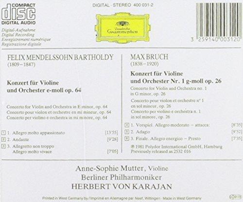 Bild 4: Mendelssohn-Bartholdy, Violinkonzert, op. 64/Bruch: Violinkonzert Nr. 1, op. 26 (DG, 1981) (Anne-Sophie Mutter)