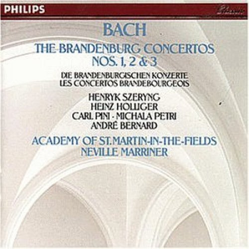 Bild 1: Bach, Brandenburgische Konzerte Nr. 1-3 (Philips, 1981) Academy of St. Martin-in-the-Fields/Marriner