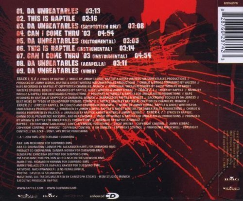 Bild 2: Raptile, Da unbeatables (2004; 8 tracks/video)