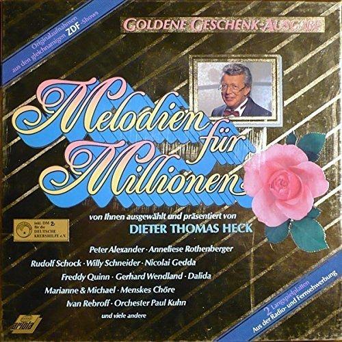 Bild 1: Melodien für Millionen-Goldene Geschenk-Ausgabe (Box), Peter Alexander, Willy Schneider, Gerhard Wendland, Dalida, Paul Kuhn..