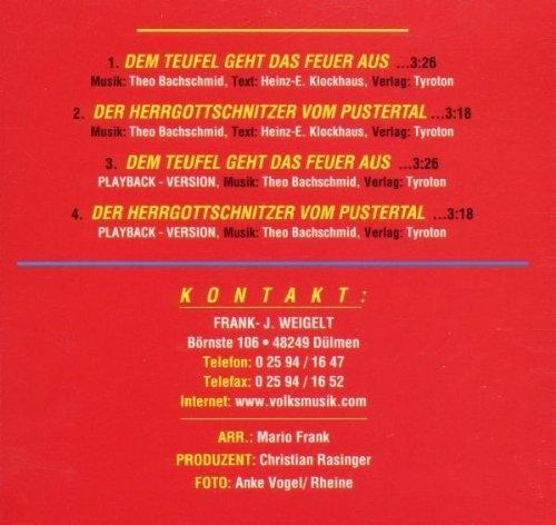 Bild 2: Franzl Weigel, Dem Teufel geht das Feuer aus (4 tracks, & seine Bayrischen Löwen)