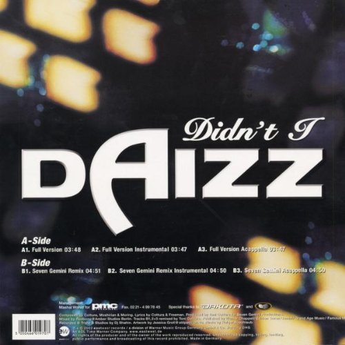 Bild 2: Daizz, Didn't I (6 versions, 2002)
