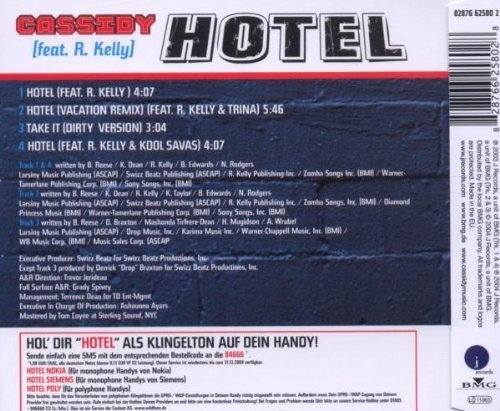 Bild 2: Cassidy, Hotel (2004, feat. R. Kelly, Trina, Kool Savas)