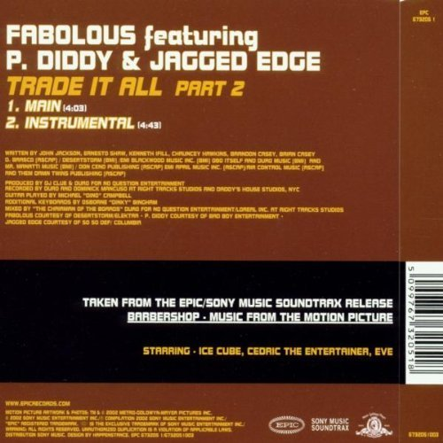 Фото 2: Fabolous, Trade it all-Part 2 (Main/Instr., 2002, feat. P.Diddy & Jagged Edge)