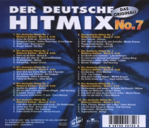 Bild 2: Der Deutsche Hit Mix 7 (2004), Mickie Krause, Dj Ötzi, Möhre, Höhner, Brings..