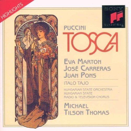 Bild 1: Puccini, Tosca-Highlights (Sony classical) (Eva Marton, José Carreras, Juan Pons, Hungarian State Orch., Michael Tilson Thomas..)