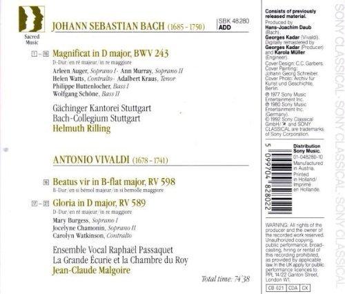 Bild 2: Bach, Magnificat, BWV 243/Vivaldi: Gloria, RV 589/Beatus vir, RV 598 (Sony, 1977/80) Gächinger Kantorei Stuttgart/Bach-Collegium Stuttgart/Rilling..