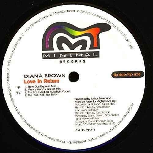 Bild 1: Diana Brown, Love in return (incl. Arthur Baker/Eric Kupper/Faze Action & Cevin Fisher Mixes)