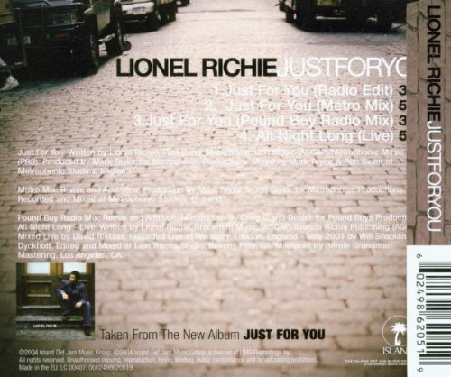 Bild 2: Lionel Richie, Just for you (2004)
