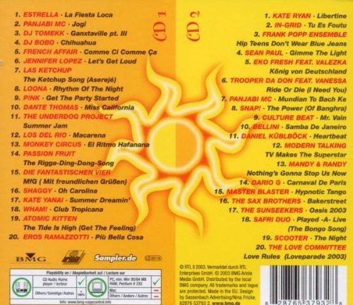 Bild 2: Fiesta Loca (2003, BMG), Estrella, Panjabi MC, DJ Tomekk, Las Ketchup, P!nk, Atomic Kitten, Kate Ryan, In-Grid, Safri Duo..