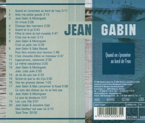 Bild 4: Jean Gabin, Quand on s'promène au bord de l'eau (compilation, 20 tracks, feat. Mistinguett, Gaby Basset..)