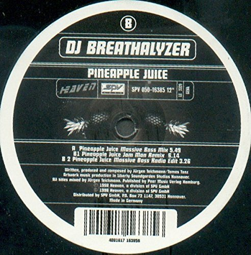 Bild 1: DJ Breathalyzer, Pineapple juice (Massive Bass Mix/Radio Edit/Jam Man Remix, 1998)