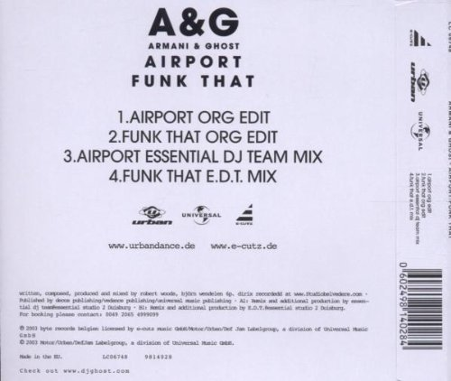 Bild 2: A & G (Armani & Ghost), Airport/Funk that (2 versions, 2003)