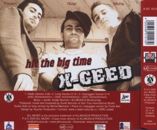Bild 2: X-Ceed, Hit the big time (3 versions, 2005)