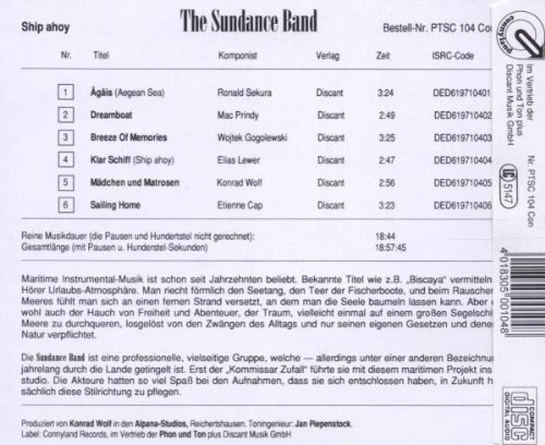 Bild 2: Sundance Band, Ship ahoy (6 tracks)