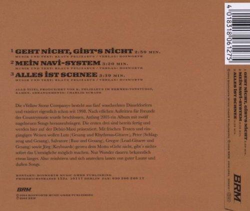 Bild 2: Yellow Stone Company, Geht nicht, gibt's nicht (2004)