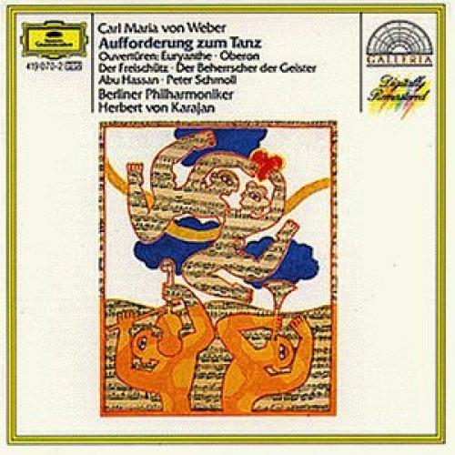 Bild 1: Weber, Carl Maria von, Aufforderung zum Tanz, op. 65/Ouvertüren: Euryanthe, Oberon, Abu Hassan.. (DG, 1972/73) Berliner Philharmoniker/Karajan