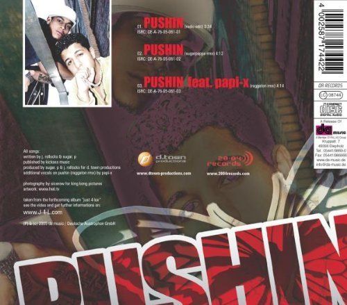 Bild 2: J4L, Pushin (3 versions, 2005, feat. Papi-X)