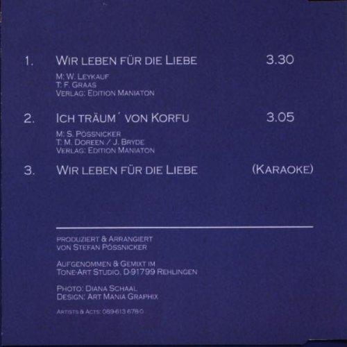 Bild 2: Kathrin Raab, Wir leben für die Liebe (3 tracks, 1999, incl. Karaoke)