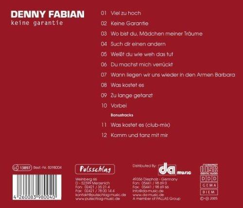 Bild 2: Denny Fabian, Keine Garantie (2005)