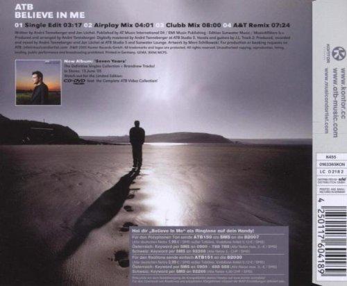 Bild 2: ATB, Believe in me (2005)
