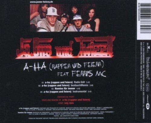 Bild 2: JaOne, A-ha (rappen und feiern; 2004, und Twizzy feat. Ferris MC)