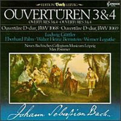 Bild 1: Bach, Ouvertüren BWV1068, 1069 (Capriccio, 1984) Neues Bachisches Collegium Musicum Leipzig/Pommer, Ludwig Güttler..