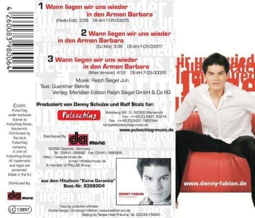 Bild 2: Denny Fabian, Wann liegen wir uns wieder in den Armen Barbara (2005)