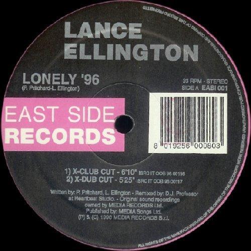 Bild 1: Lance Ellington, Lonely '96-Joey Mustapha V PTP Mixes (3 versions)
