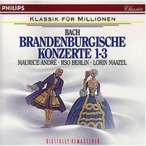 Bild 1: Bach, Brandenburgische Konzerte Nr. 1-3 (Philips, 1966) (RSO Berlin/Maazel, Maurice André, Wolfgang Meyer)