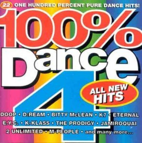 Bild 1: 100% Dance 4 (1994, UK), Doop, K7, D:Ream, JX, K-Klass, Jamiroquai, The Prodigy, 2 Unlimited, Björk..