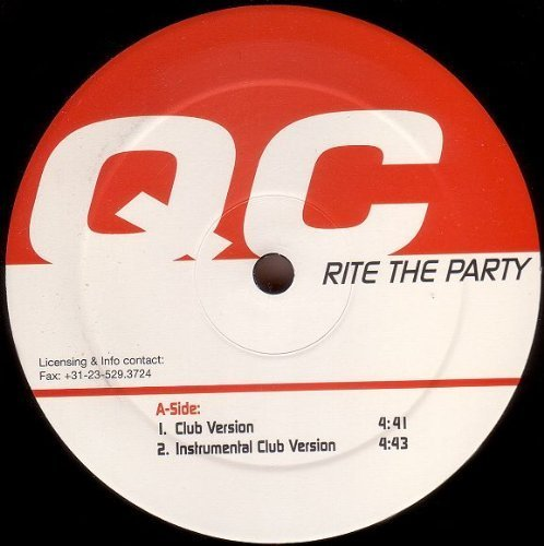 Bild 1: QC, Rite the party (Club/Instr. Club/Progressive/Instr. Progressive House Versions, 2000)