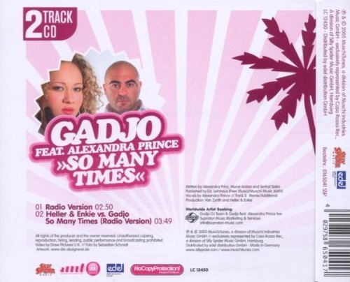 Bild 2: Gadjo, So many times (2005; 2 tracks, feat. Alexandra Prince)