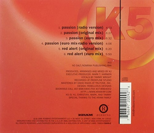 Bild 2: K5, Passion/Red alert (US, 4/2 versions, 1996)