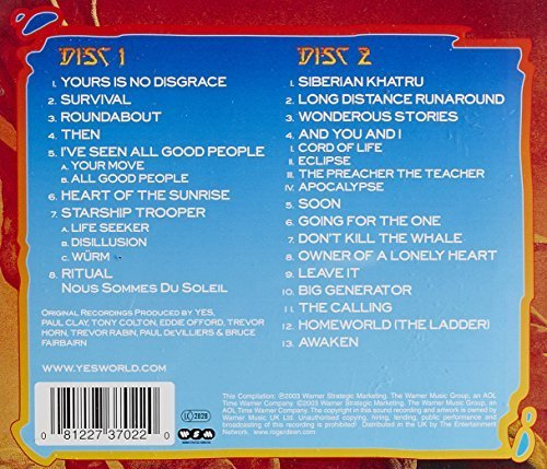 Bild 2: Yes, Ultimate Yes-35th anniversay collection (21 tracks, 2003)