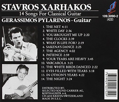Bild 2: Stavros Xarhakos, 14 songs for classical guitar (played by Gerassimos Pylarinos)