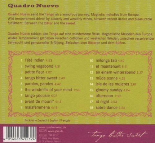 Bild 2: Quadro Nuevo, Tango bitter sweet (2006)