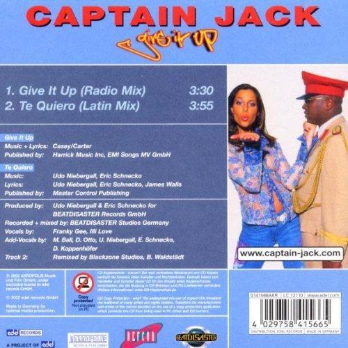 Image 2: Captain Jack, Give it up (2002; 2 tracks, cardsleeve)