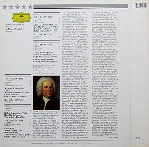 Bild 2: Bach, Brandenburgische Konzerte Nr. 1-6 (Festival Strings Lucerne/Rudolf Baumgartner)