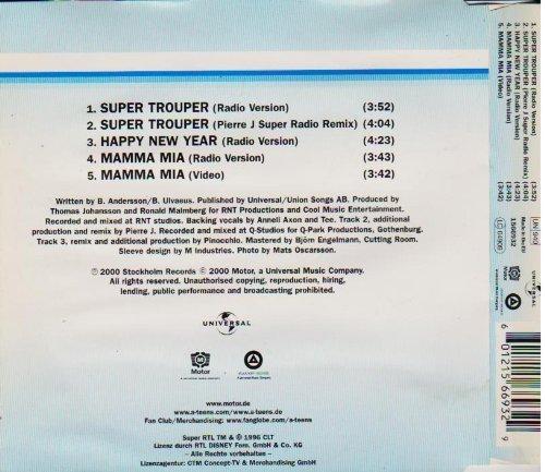 Bild 2: A*Teens, Super trouper (2000; 4 tracks/video)