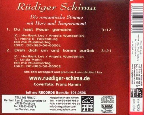 Bild 2: Rüdiger Schima, Du hast Feuer gemacht (2006; 2 tracks)