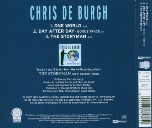Bild 2: Chris de Burgh, One world (2006)