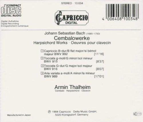 Bild 2: Bach, Cembalowerke: BWV 992, 915, 916, 989 (1984) (Armin Thalheim)