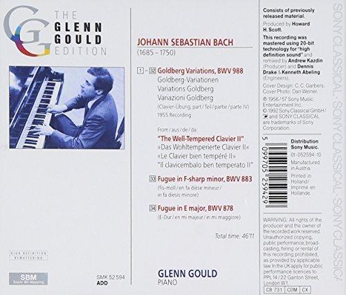 Bild 2: Bach, Goldberg-Variationen, BWV 988/Fugen, BWV 878, 883 (1956/57/92, Sony) (Glenn Gould)