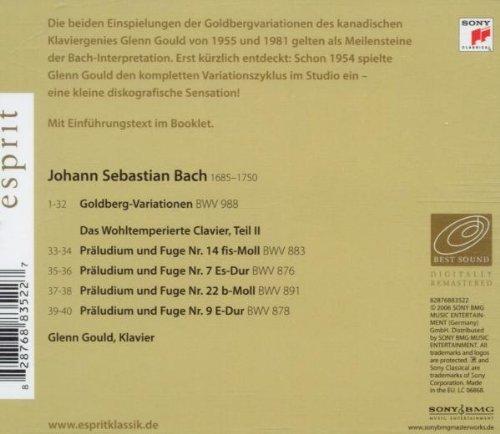 Bild 2: Bach, Goldberg-Variationen, BWV 988 (Sony/Esprit, 2006) (Glenn Gould)