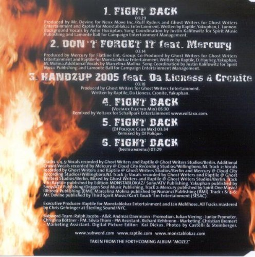 Bild 2: Raptile, Fight back (2005, feat. Mercury)