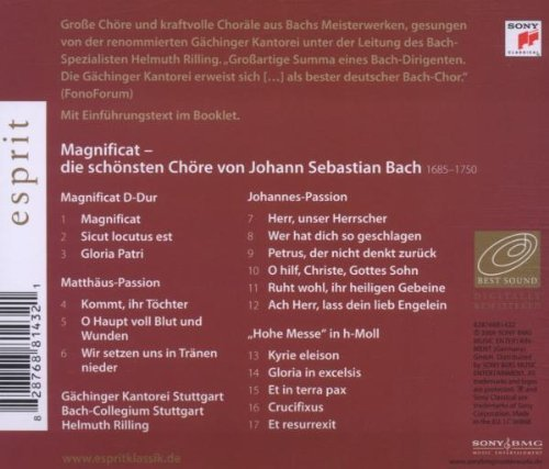 Bild 2: Bach, Magnificat, BWV 243/Matthäus-Passion, Johannes-Passion/'Hohe Messe' (Sony/Esprit, 2006) (Gächinger Kantorei & Collegium Stuttgart/Bach-Collegium Stuttgart/Helmuth Rilling)